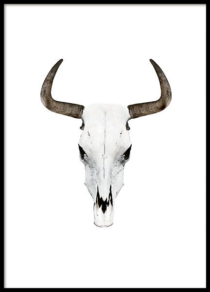 Poster Mit Büffelhörnern. Dieses Poster Passt In Verschiedene Räume Und  Einrichtungsstile. Kombinieren Sie Es