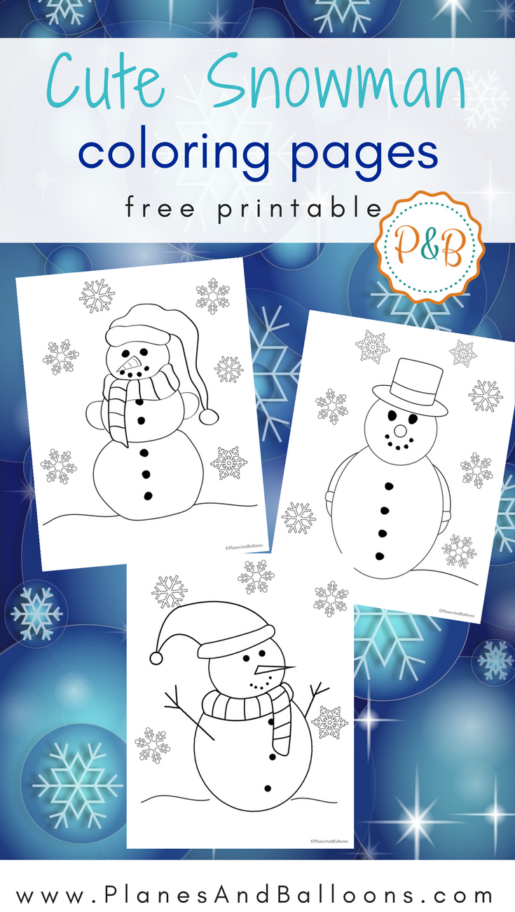 Snowman coloring pages for all the kids who love winter | Snowman ...