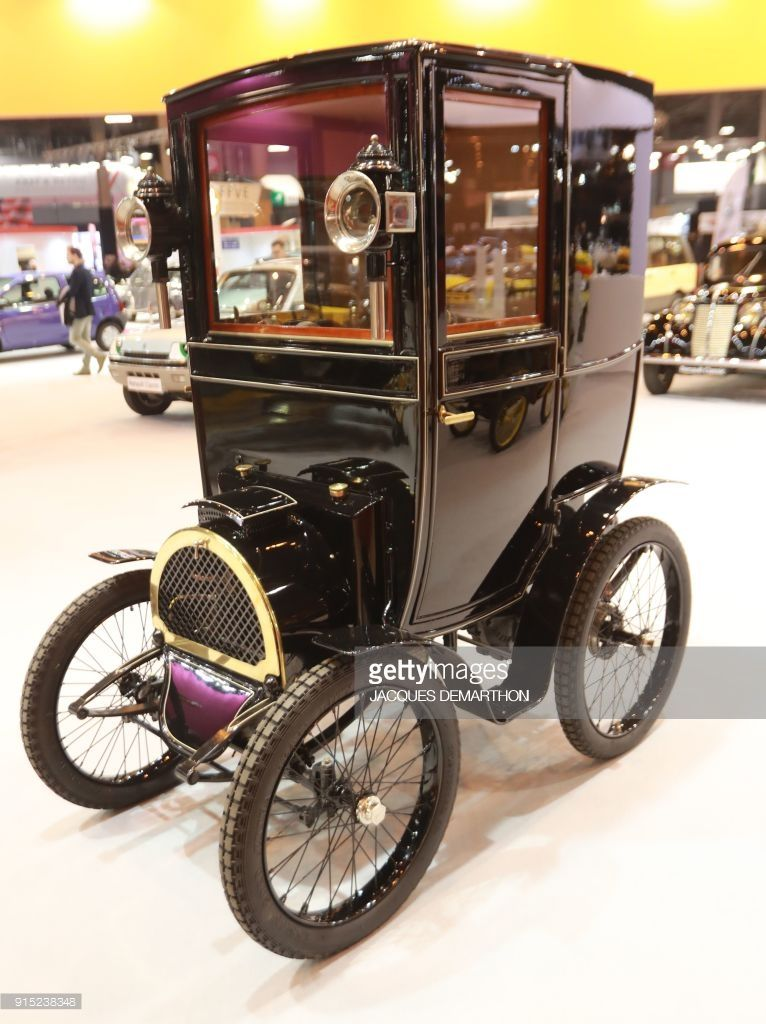 A renault type b from 1899 is seen on display at retromobile an exhibition of vintage motor - Garage renault versailles ...