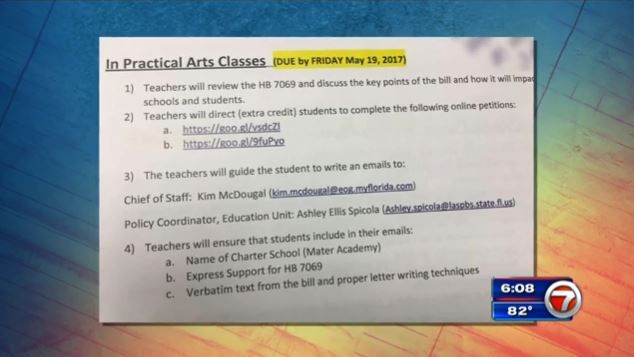 MIAMI -- Charter school offered students extra credit for signing - how to write petition guide