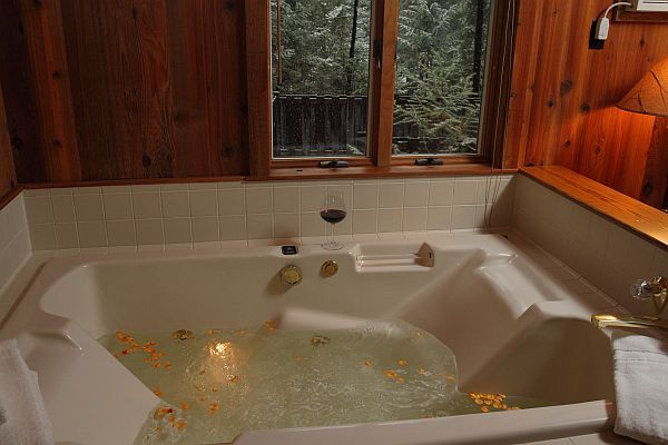Indoor whirlpool rund  1BR Sugar Cabin at Triple Creek Ranch- Indoor Whirlpool | Cabins ...
