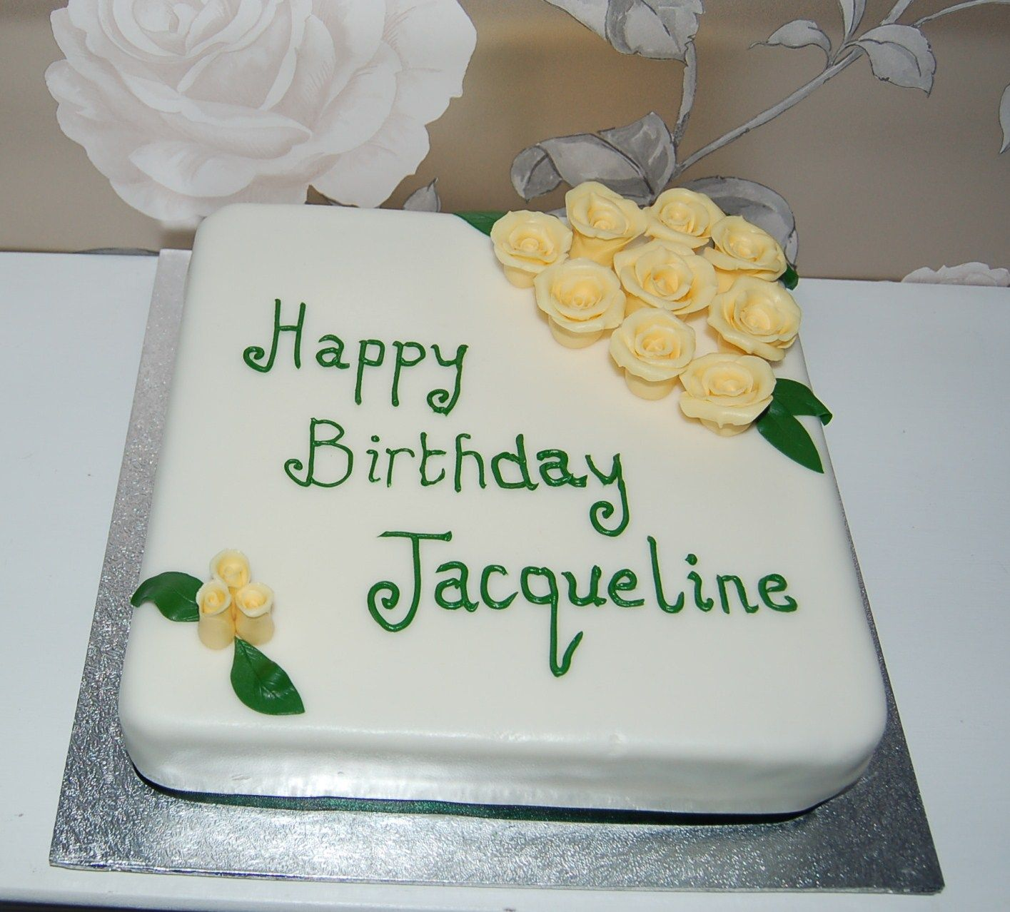 Images Of Birthday Cakes For Jacqueline