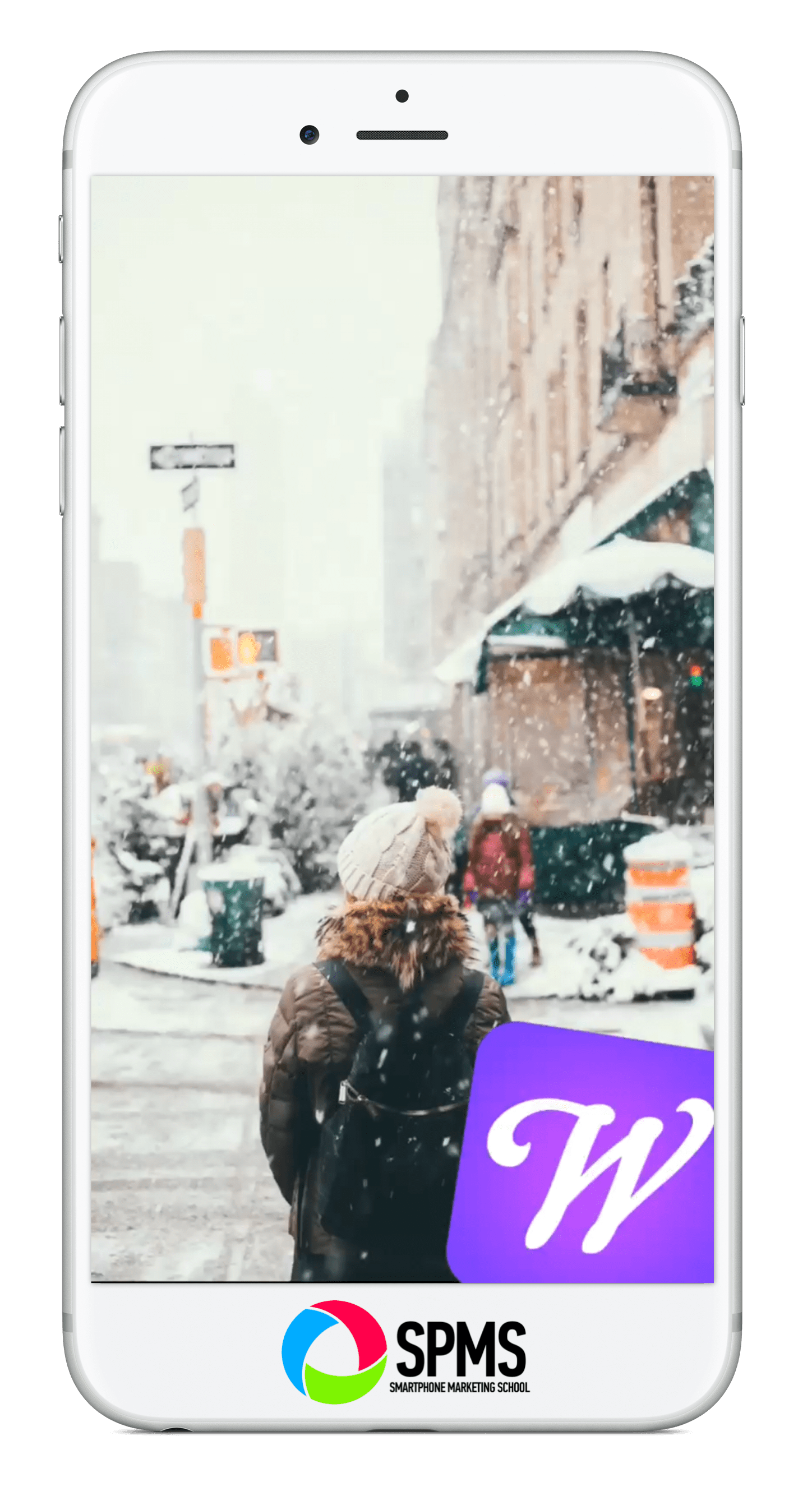 4 Apps To Add Animated Snow To Your Social Media Posts Smartphone Marketing School Social Media Post Iphone Wallpaper Images Videos Design
