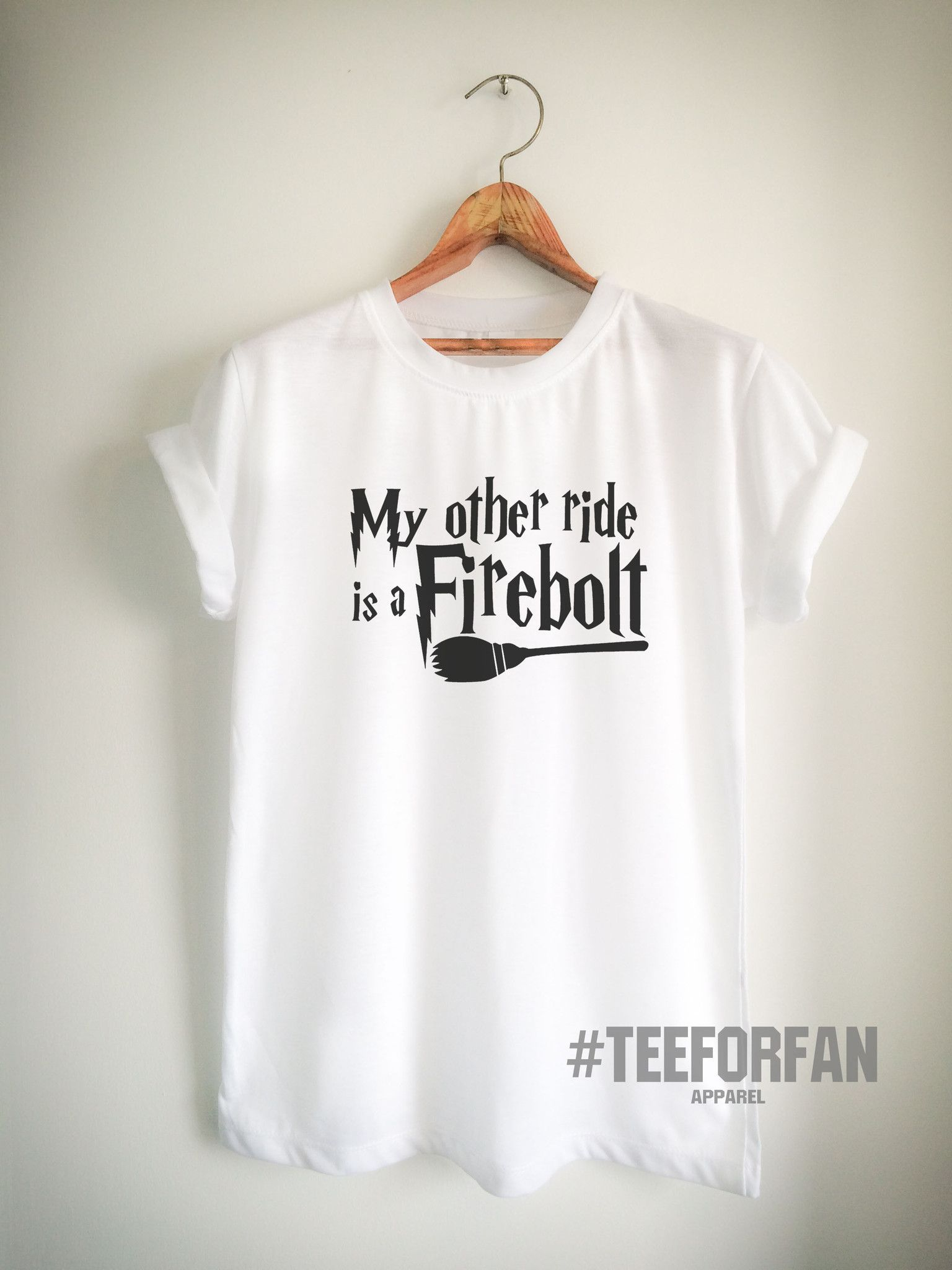 Harry Potter Shirts Merchandise My Other Ride Is Firebolt Broomstick Quidditch T Clothes Apparel Top Tee For Women Girls Men