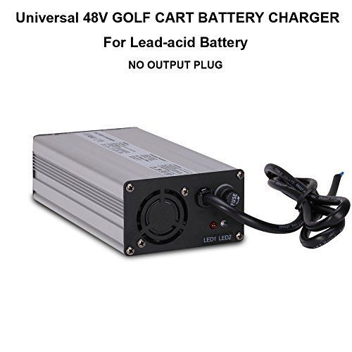 Universal 48V 4A GOLF CART BATTERY CHARGER NO PLUG FOR EZGO Club Car on yamaha golf cart 48v solenoid, yamaha ydre battery charger, golf cart battery charger, yamaha g29 battery charger, yamaha 48v battery charger, ez go golf cart charger, lester electrical battery charger, yamaha drive battery charger, yamaha golf cart charger problems, sam's club auto battery charger,