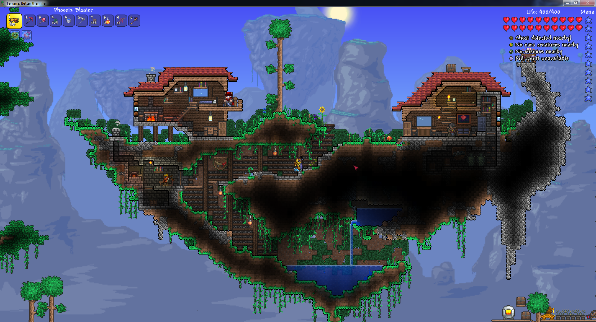 The Starters Of My Pre Hardmode Sky Island Village Mini