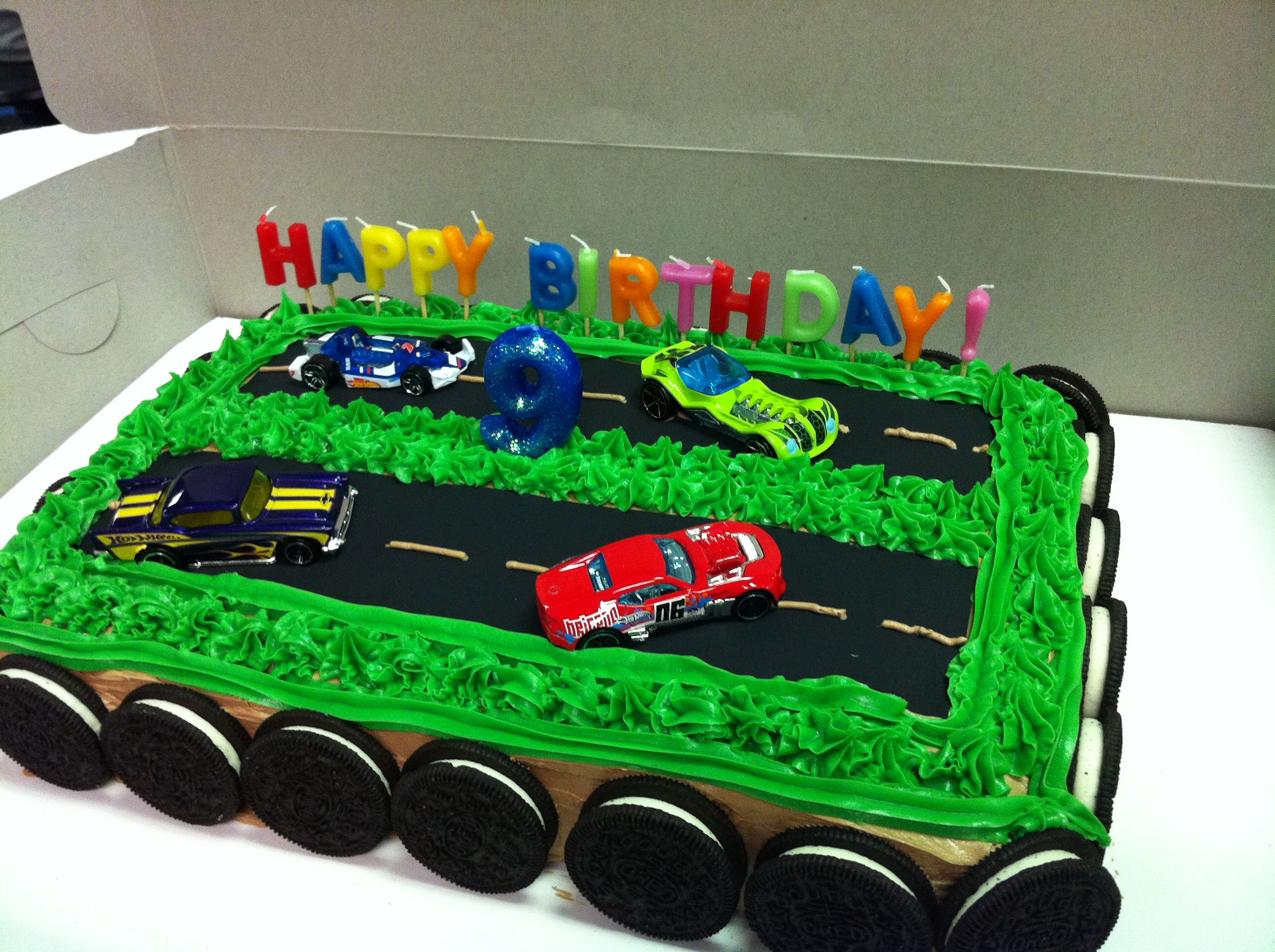 Race Car Cake Use 13x9 Cake Pam And Cut Wax Paper To Fit