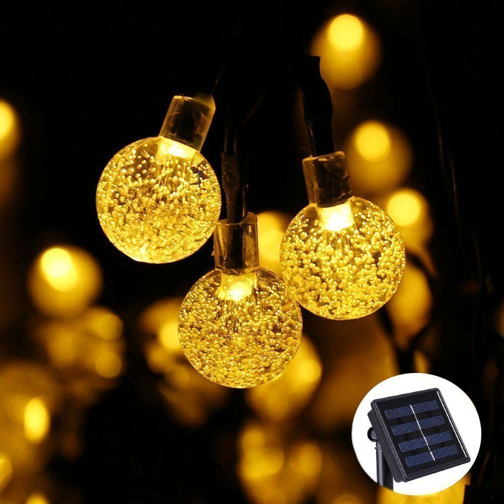 Qedertek solar outdoor string lights 20ft 30 led crystal ball qedertek solar outdoor string lights 20ft 30 led crystal ball solar globe fairy lights for garden mozeypictures