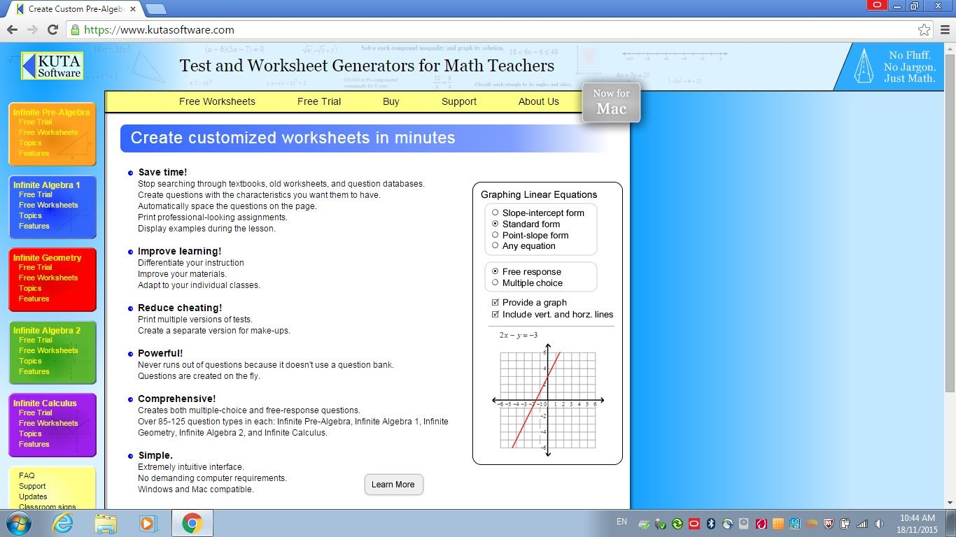 Kuta Software Teaching Math Teaching Math