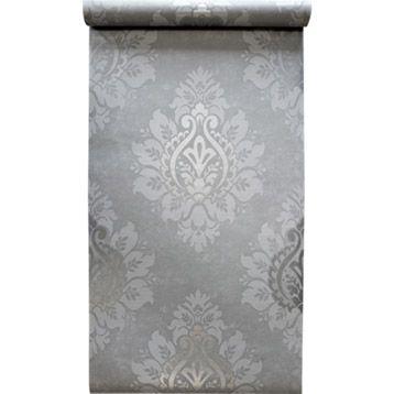Papier peint sur intissé Médaillon, argent, larg 053 m Chambre