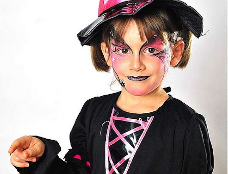 Trucco Halloween Per Bambini Da Strega.Trucco Di Halloween Per Bambini Trucco Da Strega Per Halloween