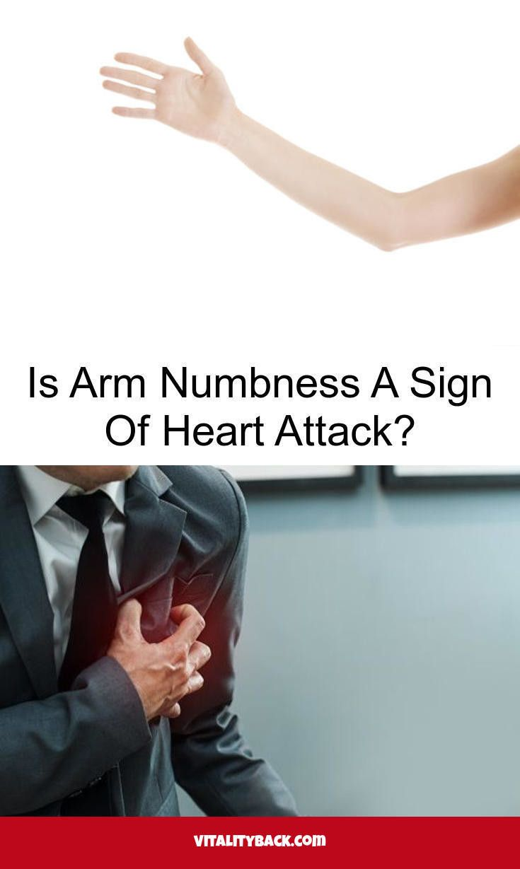 what arm is the sign of a heart attack