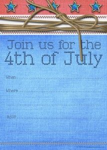 image regarding Free Printable Patriotic Invitations known as No cost Printable 4th of July Occasion Invites Patriotic