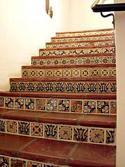 Charmant #Mexican #Tile #Staircase