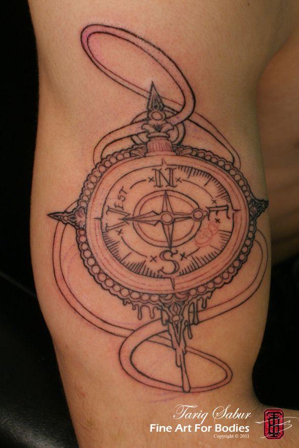 West Compass Tattoo Tempe Phoenix Az Tattoo Artist Tariq Sabur Fine