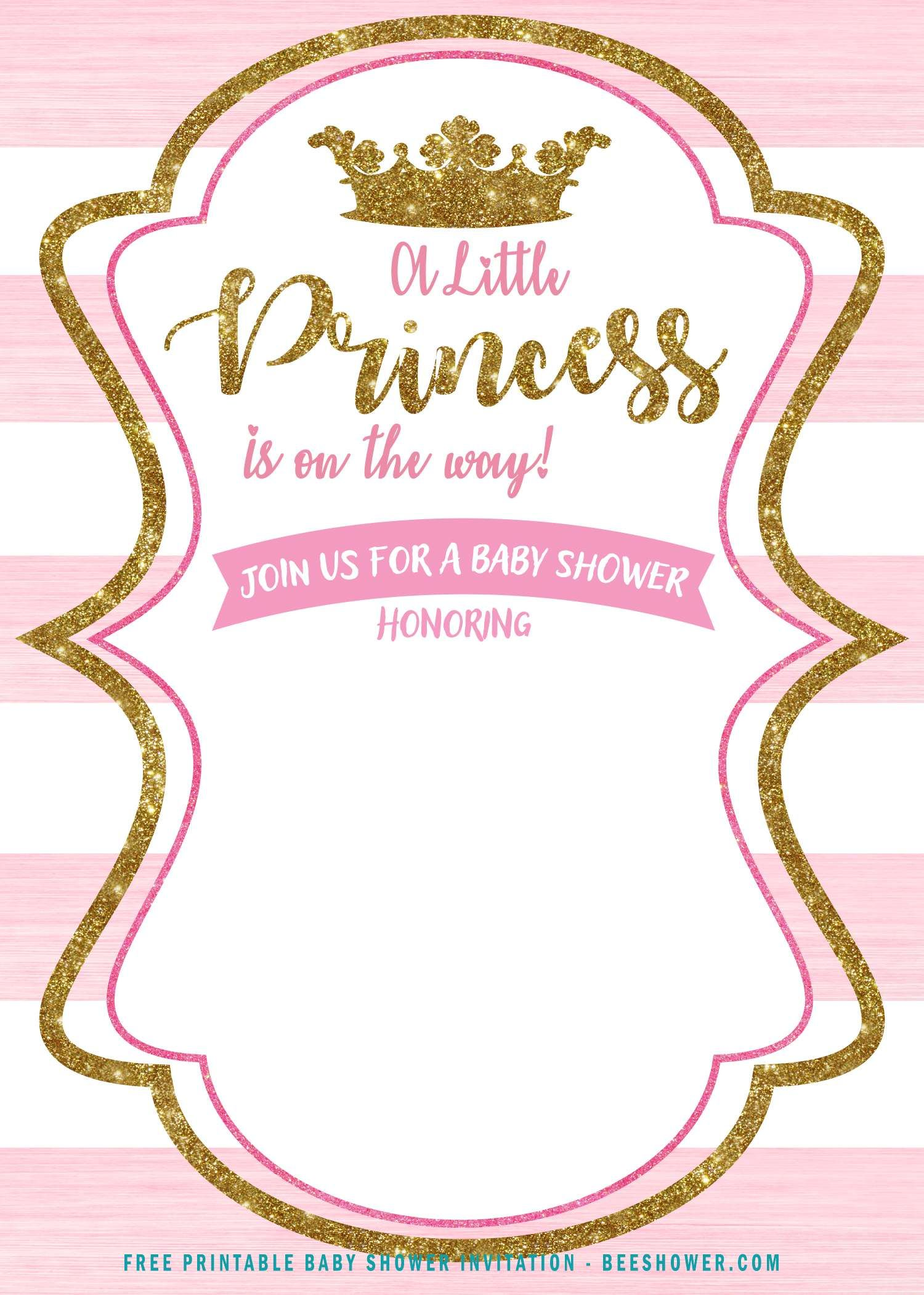 Pin On Baby Shower Invitaciones Princess baby shower invitations template