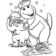 Top 10 Free Printable Barney Coloring Pages Online Dinosaur Coloring Pages Cartoon Coloring Pages Elephant Coloring Page