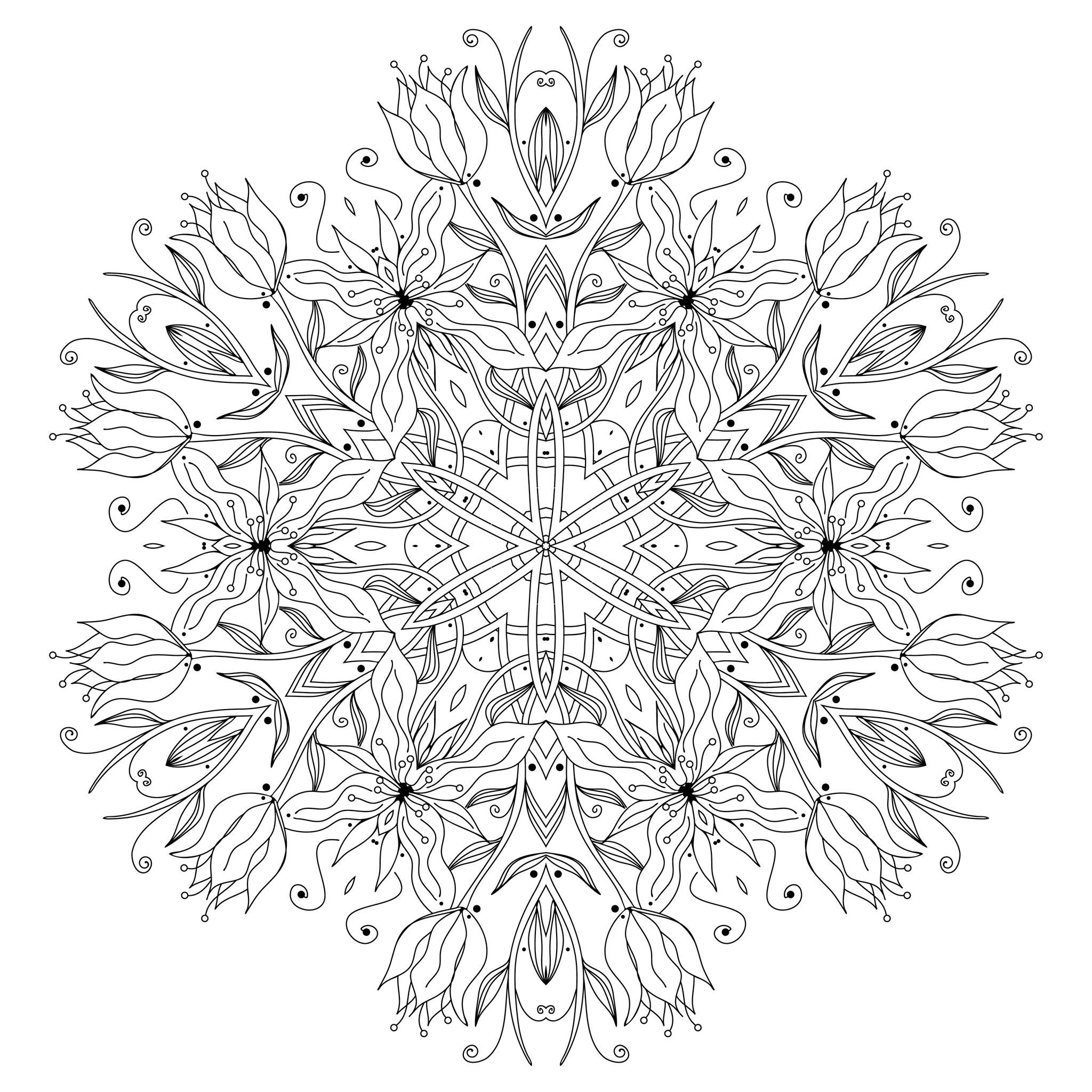 Smooth flowers and vegetal patterns, From the gallery : Mandalas ...