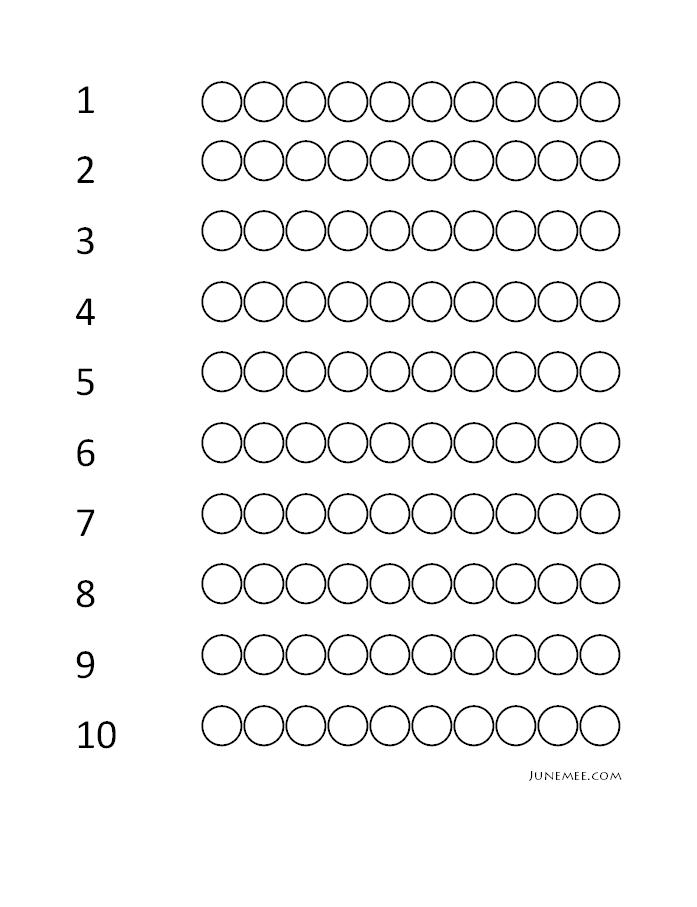 110 Counting Step 2 – Step 2 Worksheet