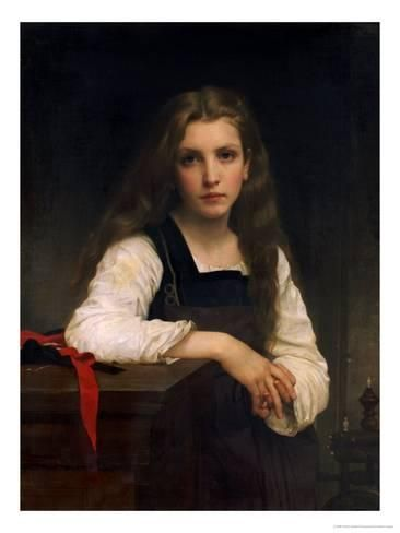 Une Petite Fille, 1886 Giclee Print by William Adolphe