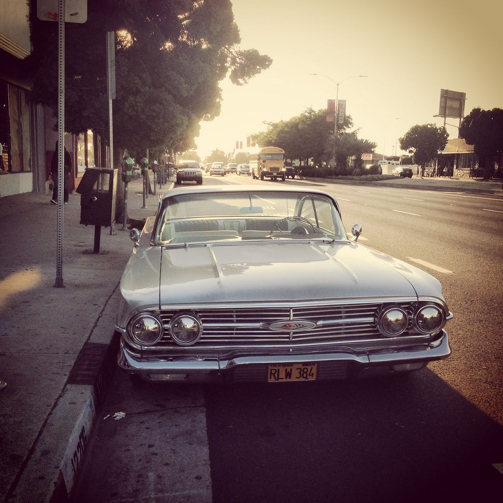 Classic Car On Venice Boulevard Los Angeles California Cars