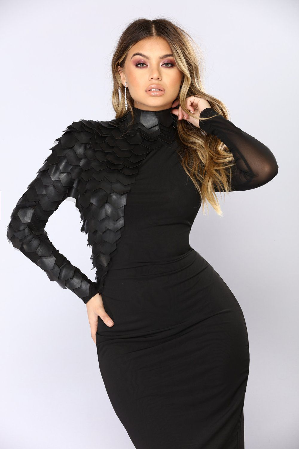 Stand Strong Midi Dress Black in 2020 Dresses, Black