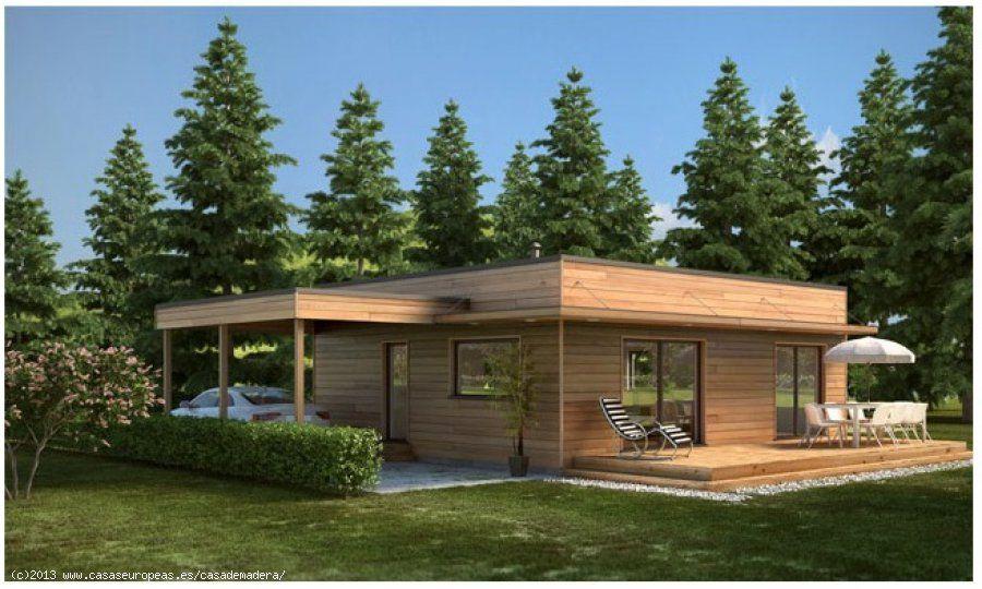 Casas europeas casa de madera mediterranea 96m2 en for Casas de campo prefabricadas