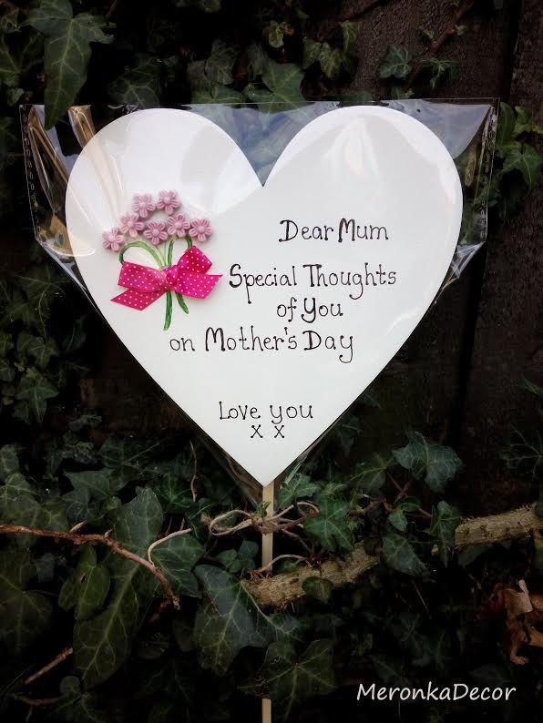 Memorial Heart Mothers Day Special Mum Grave Ornament Personalised