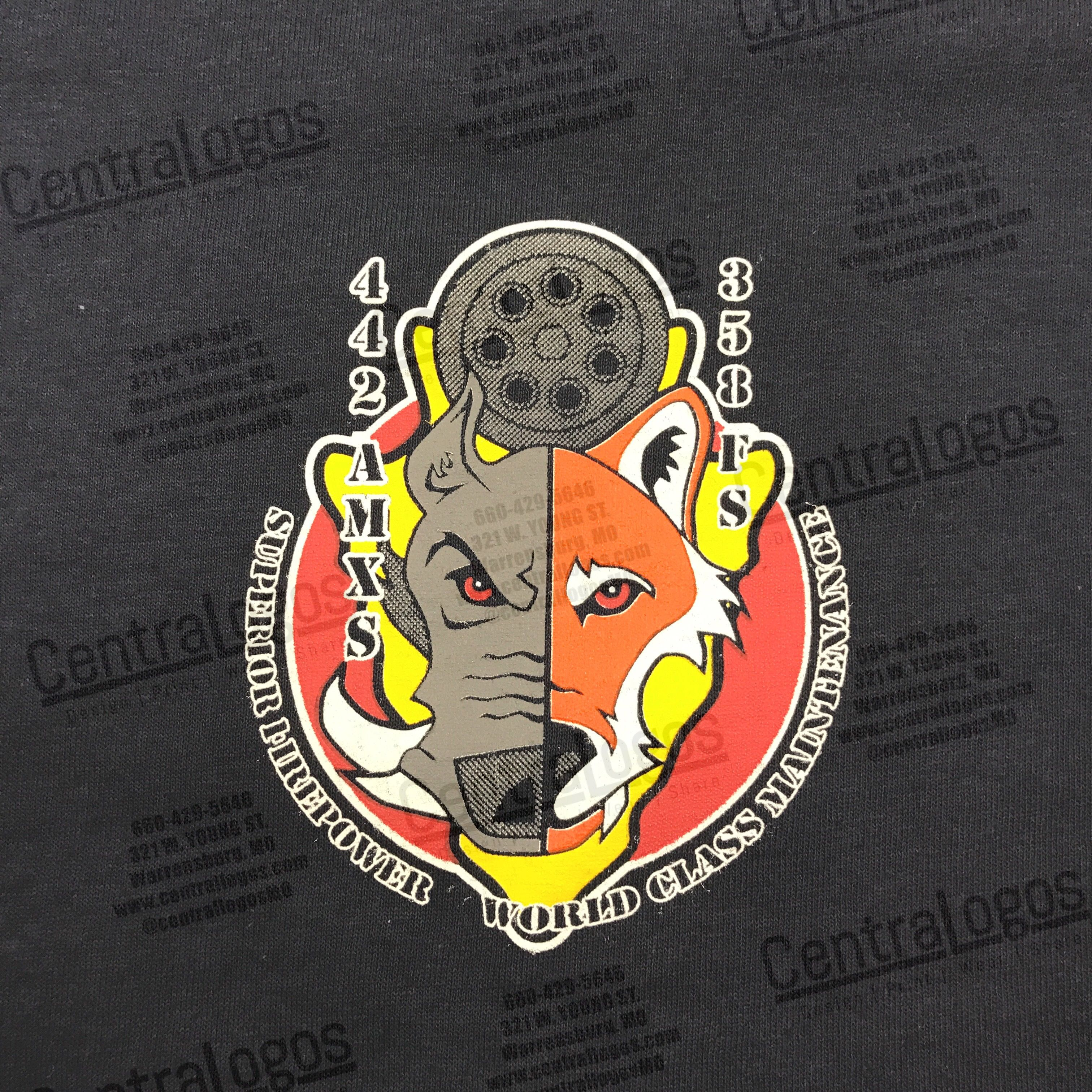Shirts Printed For The 442nd AMXS And 358th Fighter Squadron CentrallogosMO Customscreenprinting