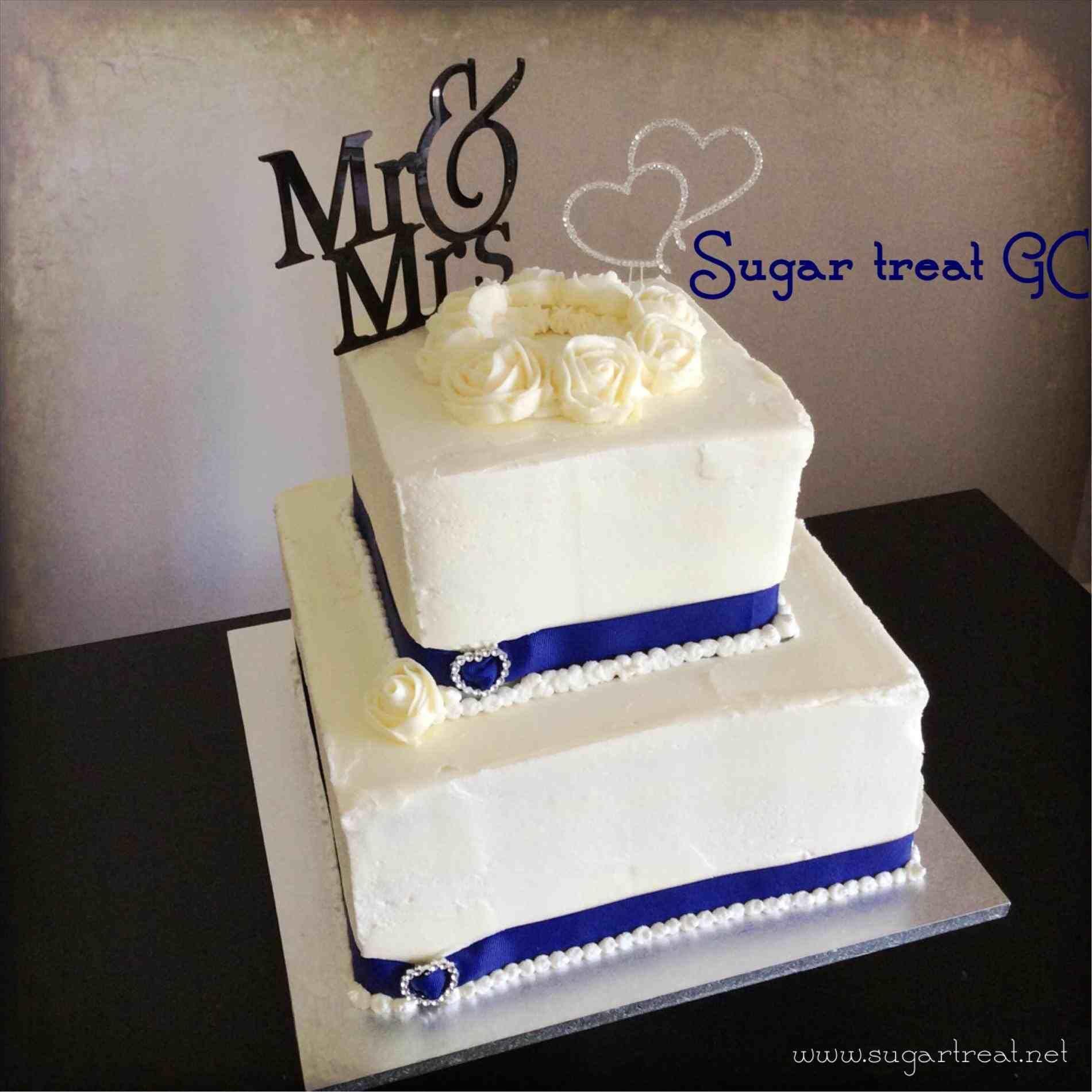 Simple one layer wedding cake square weddings pinterest