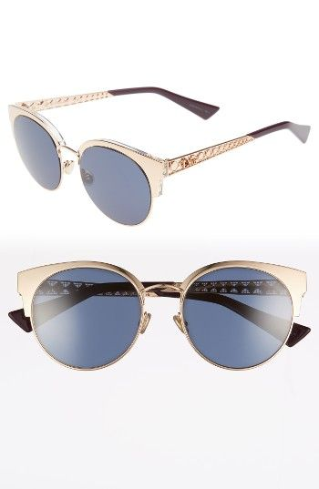 d1d9c6f063 Dior Diorama Mini Gold Copper 54mm Mirrored Lens Cat Eye Sunglasses ...