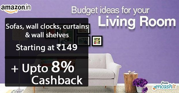 Get a living room furniture and decors offers Starts at Rs.149 @amazonin  get upto 8% cashback from encashit >> http://ift.tt/1LpsKNz  #amazon #furniture #sofas #wallshelfs #indoor plants #amazonoffers #amazoncashback #amazon