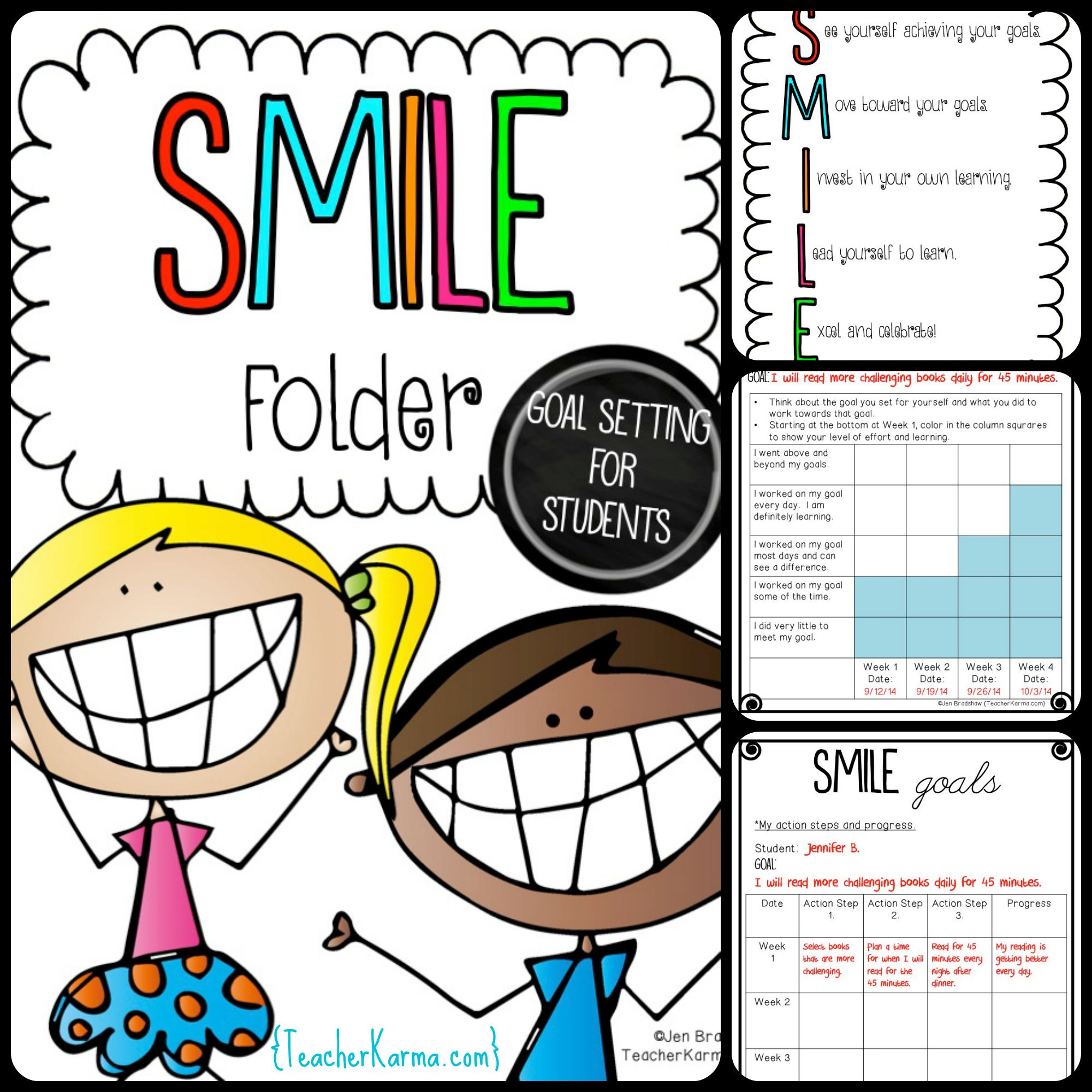 Action Folder Van Deze Week Setting Goals With Students Rti Smile Goals For Making