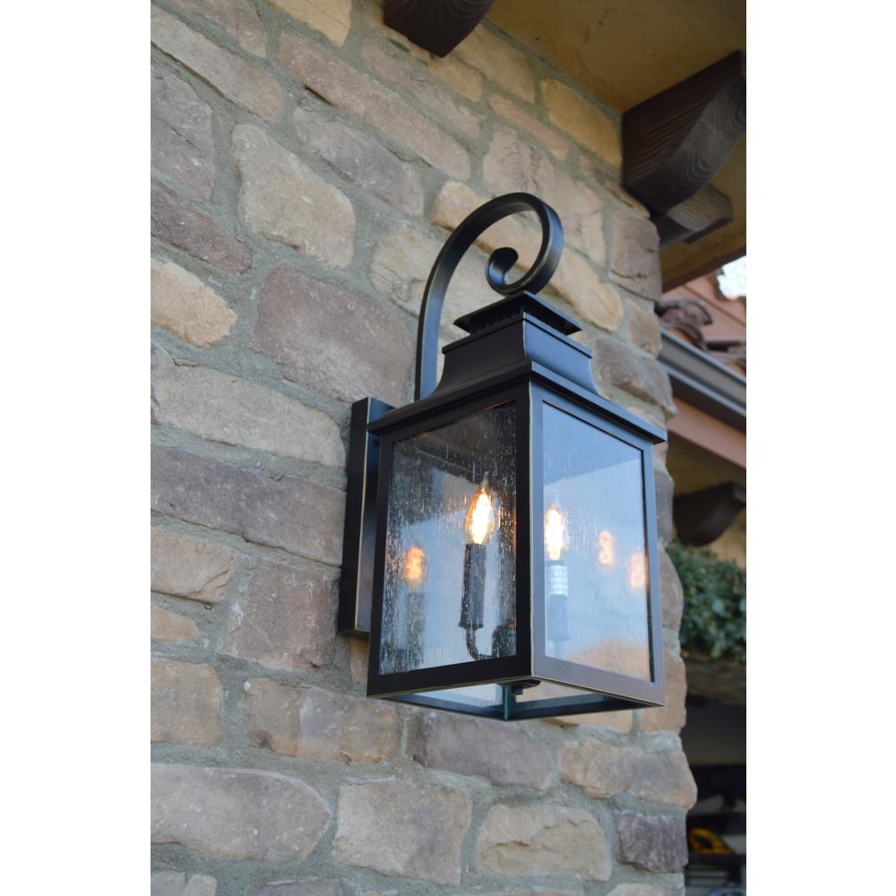 Unbranded Morgan 2 Light Imperial Black Outdoor Wall Lantern Sconce El2283ib The Home Depot Outdoor Wall Lantern House Lighting Outdoor Porch Light Fixtures