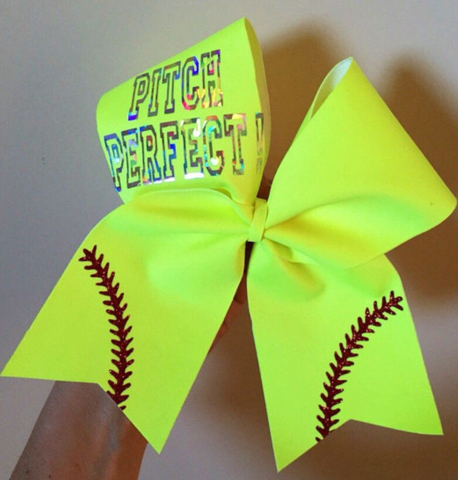 foto de Pitch Perfect Softball Team Hair Bows Cheer Bow Neon