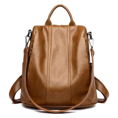 627300d2dc Fashion 2018 Women Backpack Youth Leather Vintage Backpacks for ...