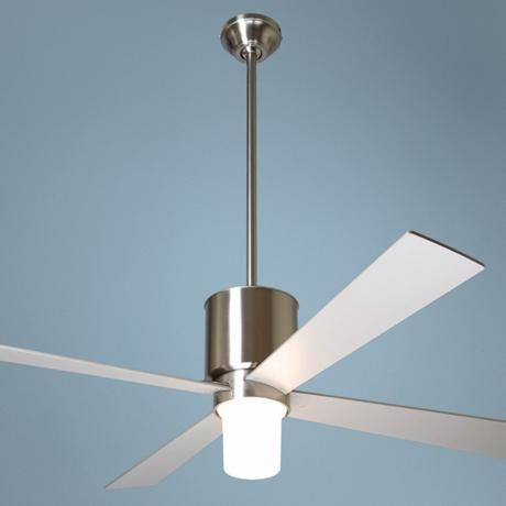50 modern fan lapa bright nickel with light ceiling fan ceiling fan - Modern ceiling fan with bright light ...