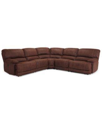 Jedd 5 Piece Fabric Power Reclining Sectional Sofa 2 Power Motion
