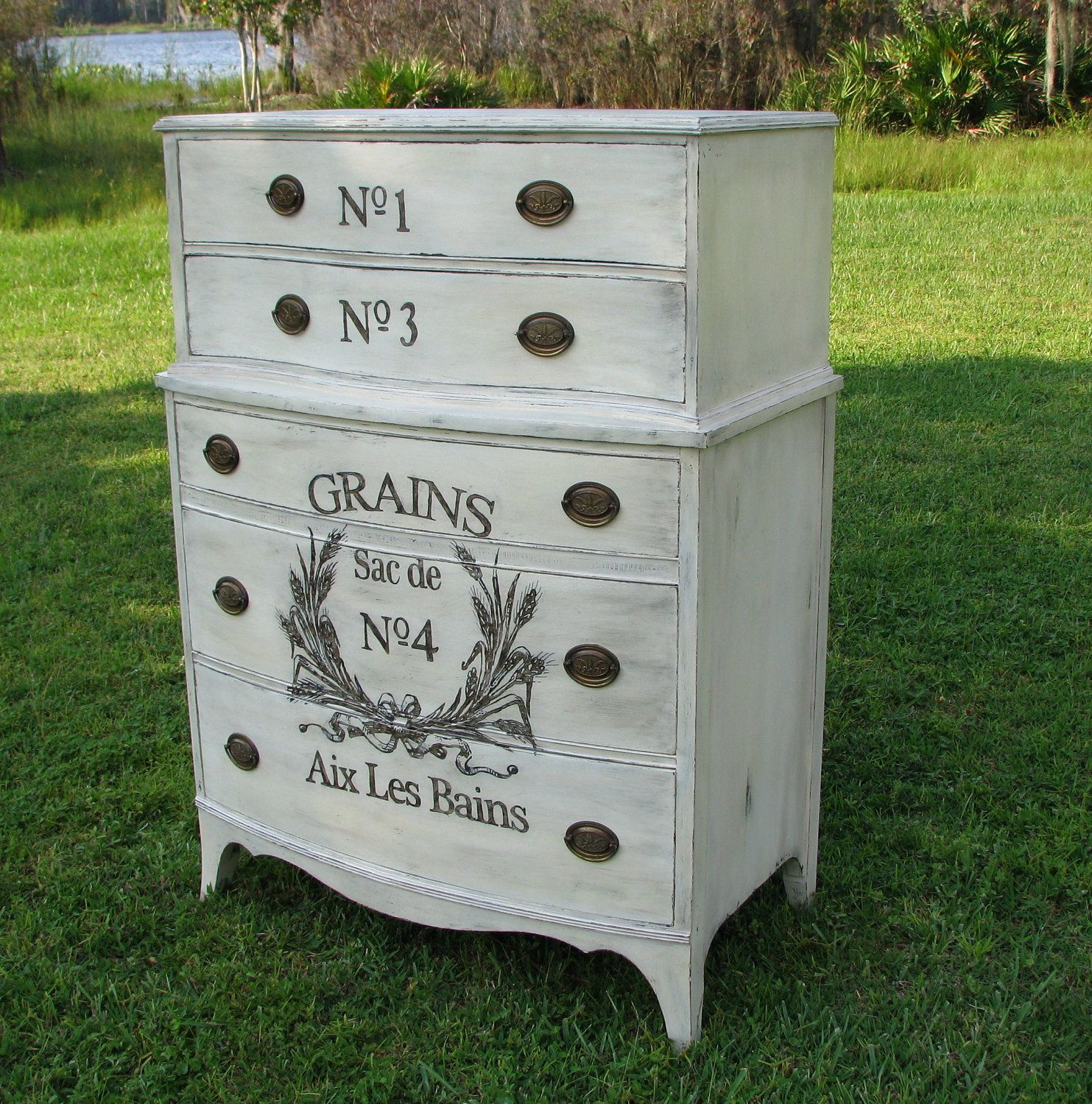Reserved for april shabby chic dresser painted furniture for Cottage type furniture