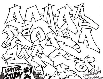 Pics For Letter A Graffiti