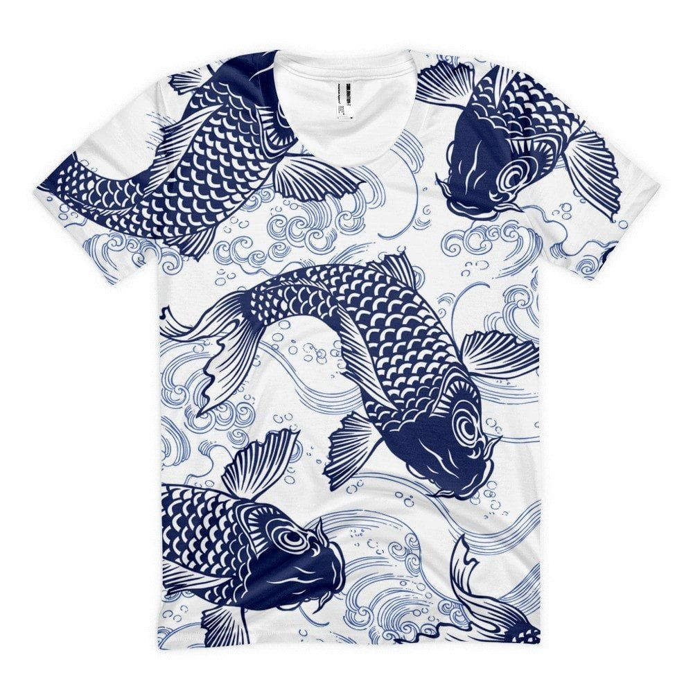 All over print koi life womens sublimation tshirt t