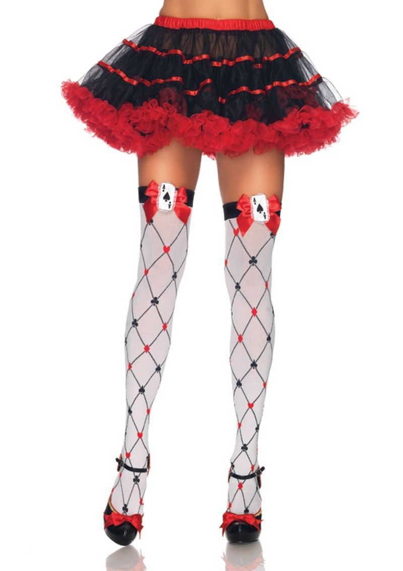 5bc653fcb Alice in wonderland queen of hearts mad hatter costume hold up ...
