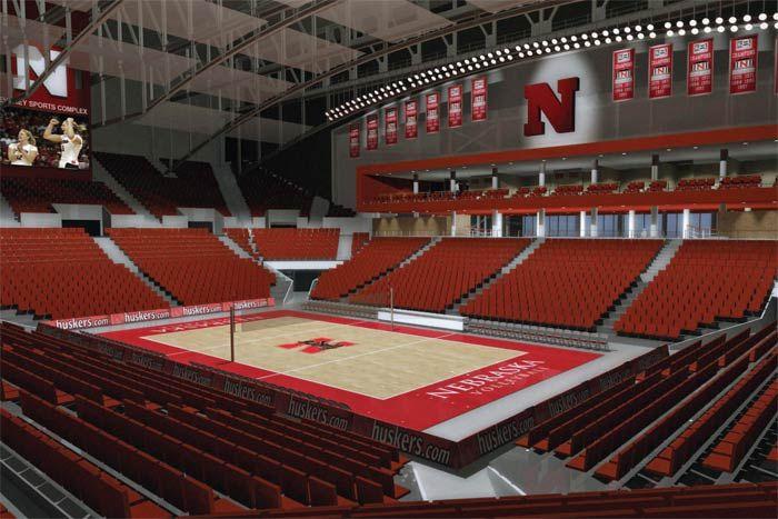 New Volleyball Facility At Nebraska Go Big Red Husker Nebraska New Homes