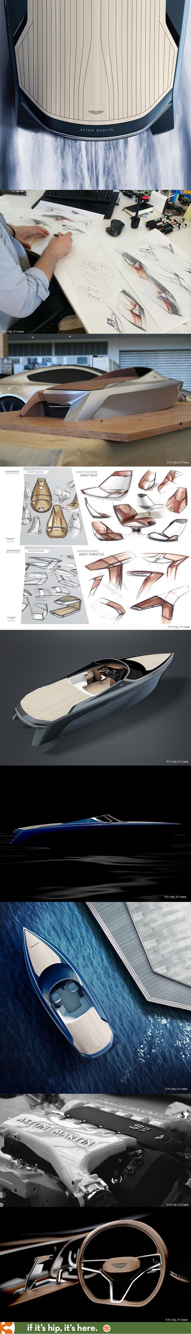 The AM37, the first official Aston Martin powerboat. | Yachts ...