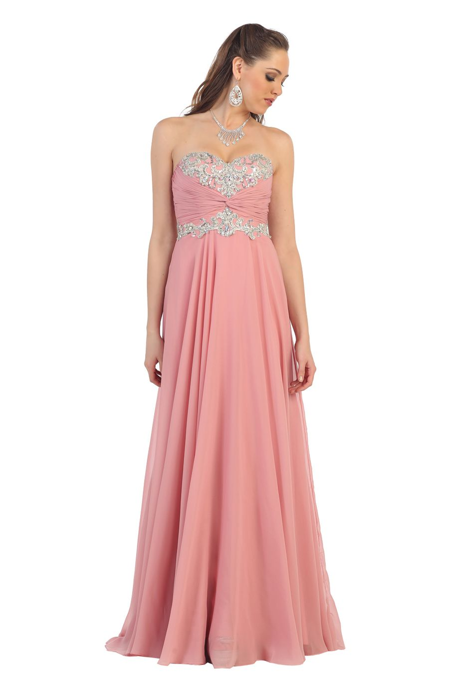 High fashion and flirty, this gorgeous dress from May Queen MQ1101 ...