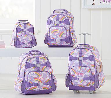 NEW Pottery Barn Kids SMALL Mackenzie Lavender Unicorn Horse Backpack