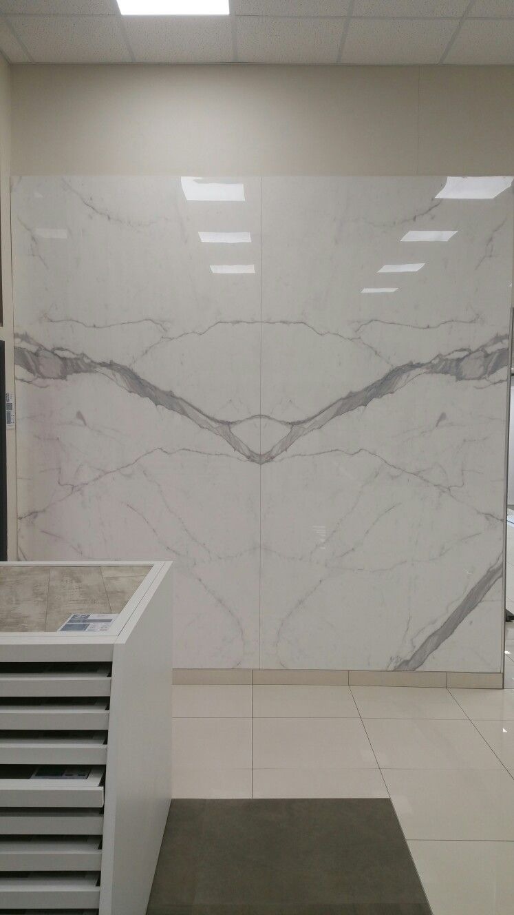 Large Format Tiles On Display In Our Showroom 300x150 Statuario Altissimo Shiny Large Format Wall Casual Home Decor Hippie Home Decor Target Home Decor