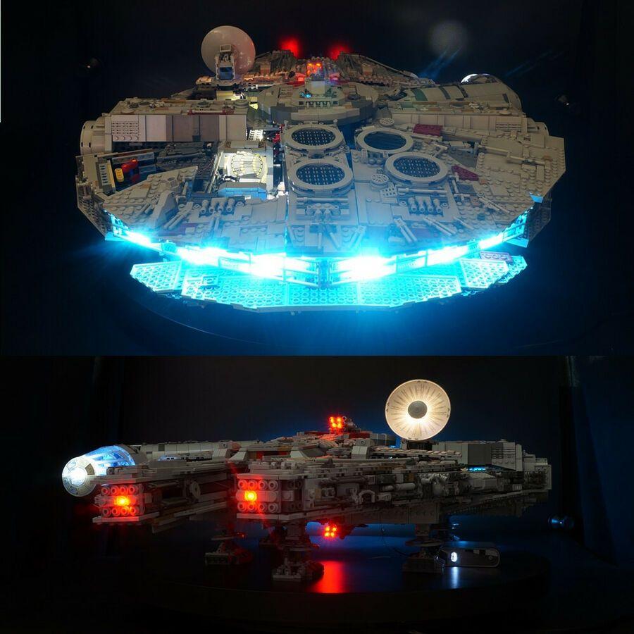 LED USB light kit for LEGO 75192 Star War Falcon Millennium Advanced Version set