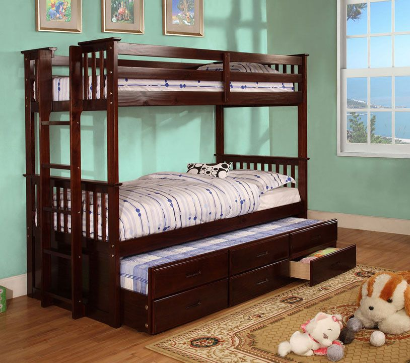 Gothic Cabinet Craft - Twin / Twin Bunk Bed With Trundle