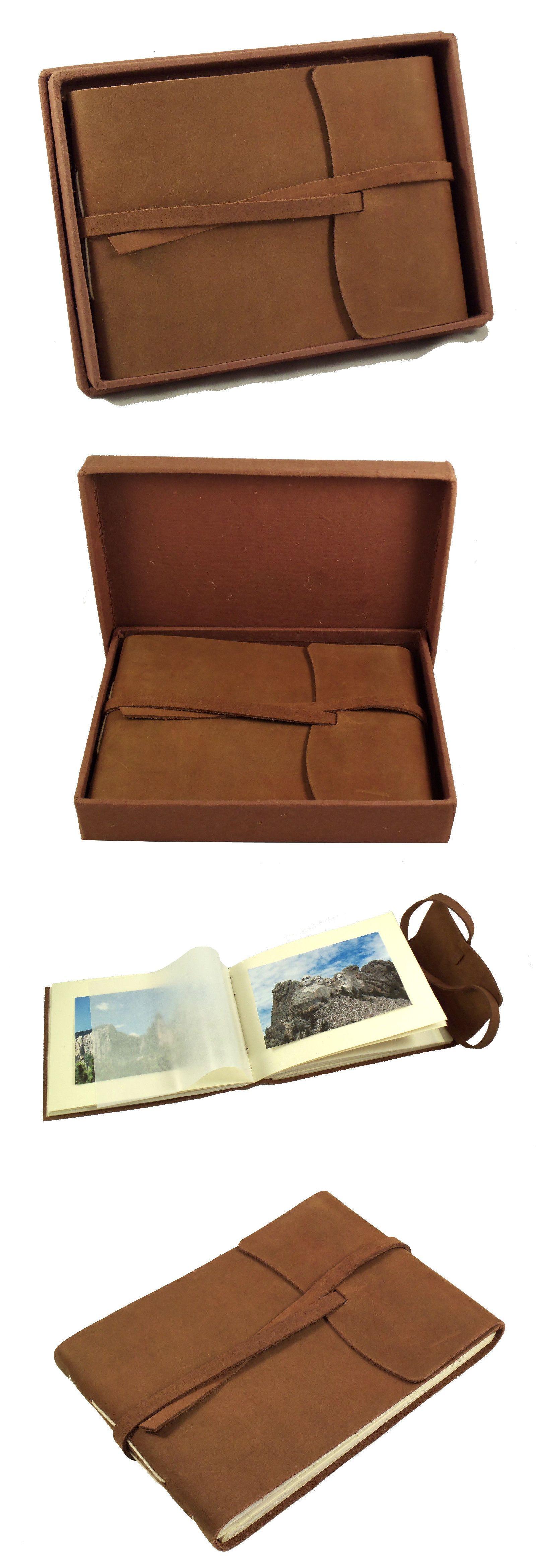 Albums And Refills 33875 Rustic Leather Photo Album Retro Scrapbook